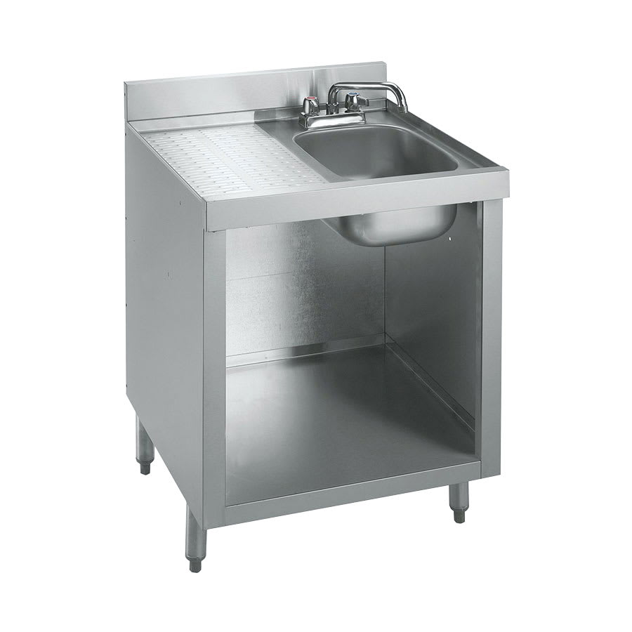 "Krowne 18-GW2 Under Bar Glass Storage Cabinet - 10x14"" Bowl, 4"" Back Splash, 24x23.5"