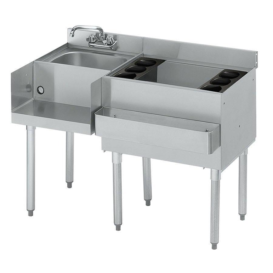 "Krowne 18-W42R-7 Right Ice Bin/Left Blender Unit - 80-lb Capacity, Dump Sink, 42x22.5"", Cold Plate"