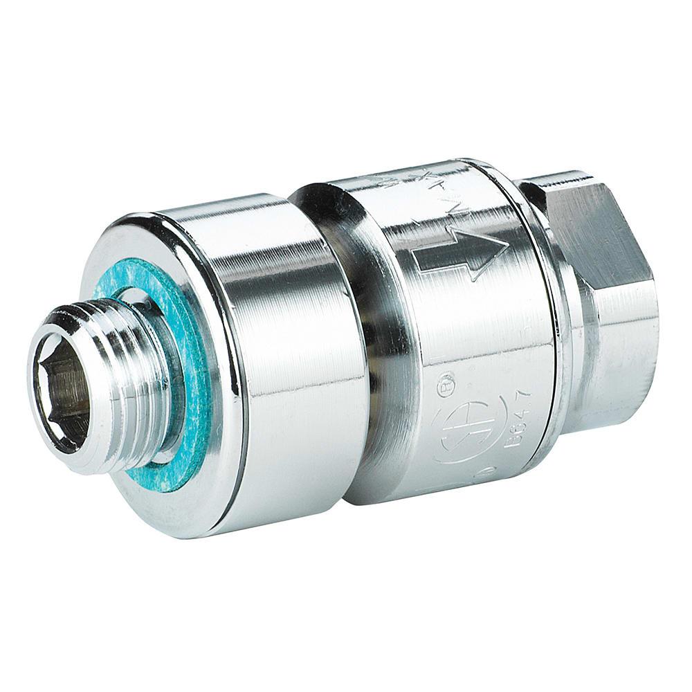 Krowne 21-109L Low Lead In-Line Vacuum Breaker, Prevents Back Siphonage/Backflow