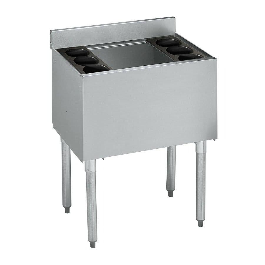 "Krowne 21-30DP-7 Ice Bin - 120-lb Capacity, (2) 3-Pack Bottle Rack, 30x21"", Cold Plate"