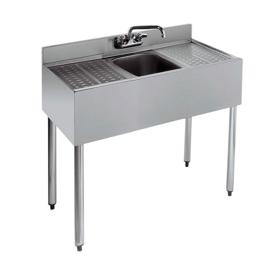 "Krowne 21-31C 36"" 1 Compartment Sink w/ 10""W x 14""L Bowl, 10"" Deep"