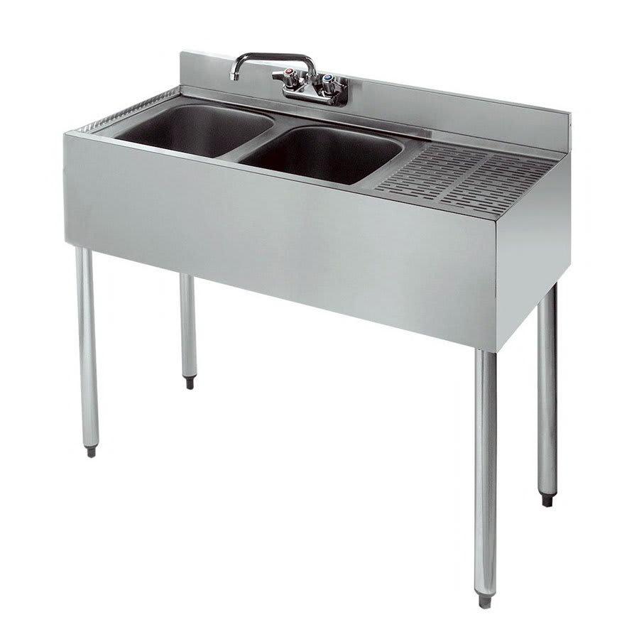 """Krowne 21-32L 36"""" 2 Compartment Sink w/ 10""""W x 14""""L Bowl, 10"""" Deep"""