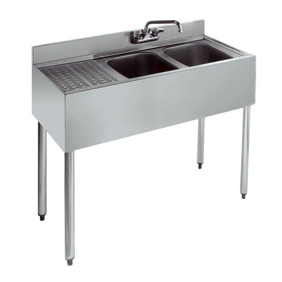 """Krowne 21-32R 36"""" 2-Compartment Sink w/ 10""""W x 14""""L Bowl, 10"""" Deep"""
