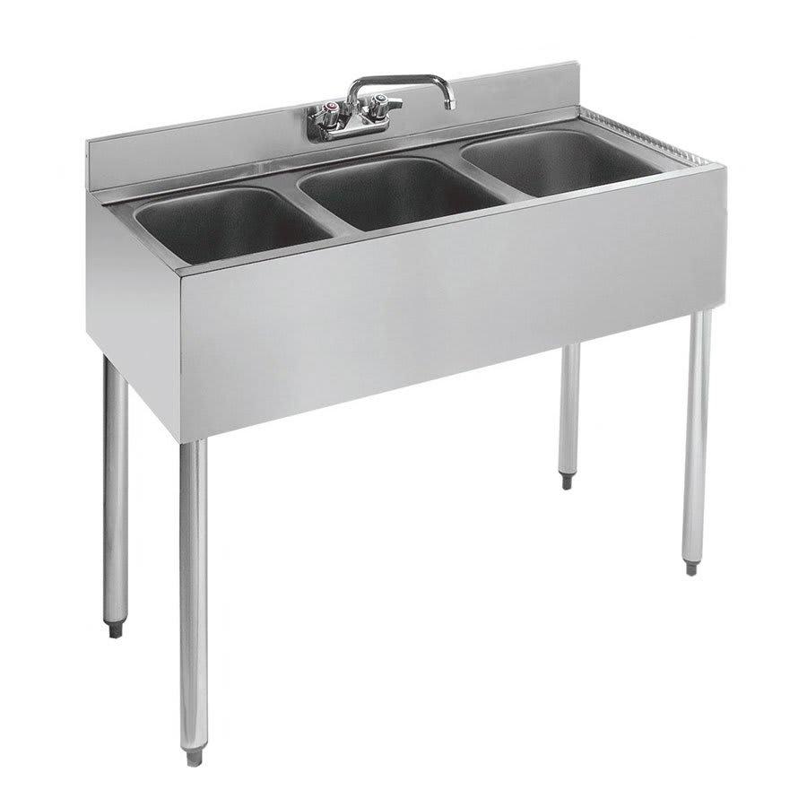 """Krowne 21-33 36"""" 3 Compartment Sink w/ 10""""W x 14""""L Bowl, 10"""" Deep"""