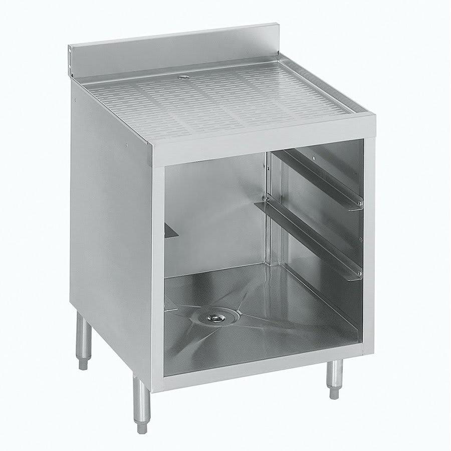 "Krowne 21-GSB1 Under Bar Glass Storage Cabinet - 3 Racks, 5"" Back Splash, 24x26"