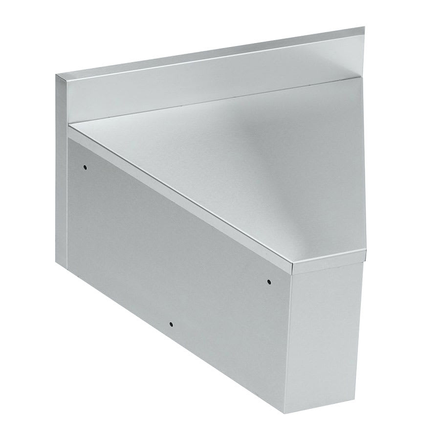 "Krowne 21-R45 21"" Flat Top Rear Angle - 45 Degree, 5"" Back Splash"