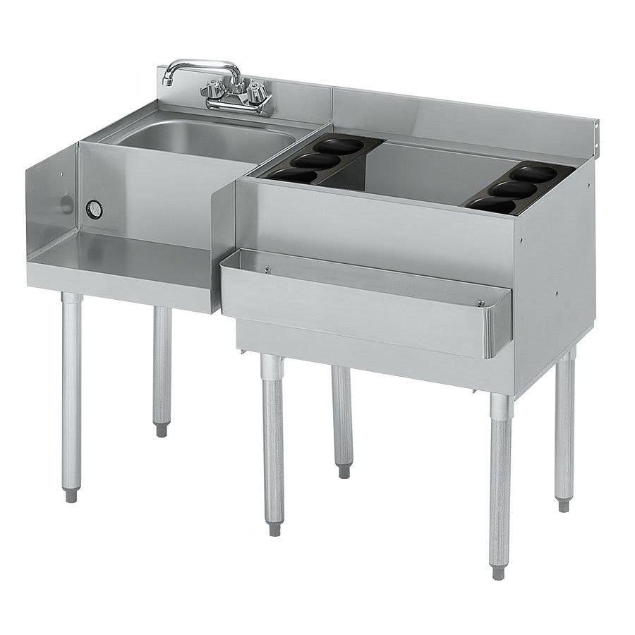 Krowne 21-W54R Right Ice Bin/Left Blender Unit - 80-lb Capacity, Dump Sink, 54x25