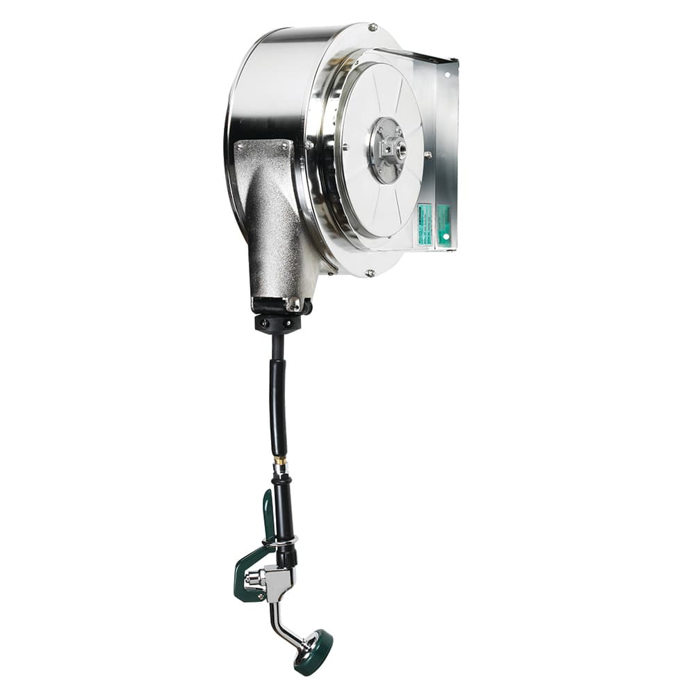 Krowne 24-600 35 ft Enclosed Stainless Hose Reel Assembly, Mounts To Ceiling