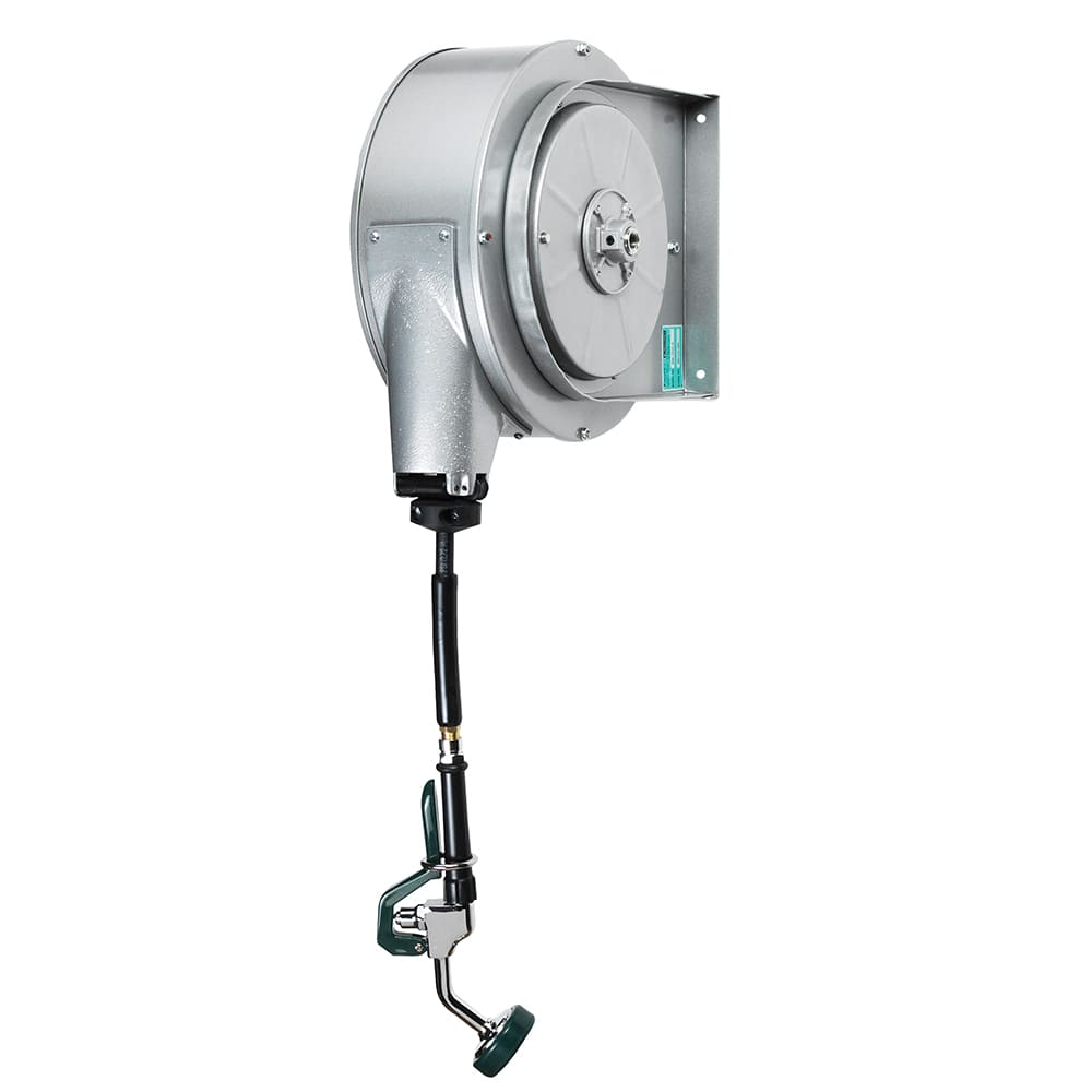 Krowne 24-601 35 ft Enclosed Powder Coated Hose Reel Assembly, Mounts To Ceiling