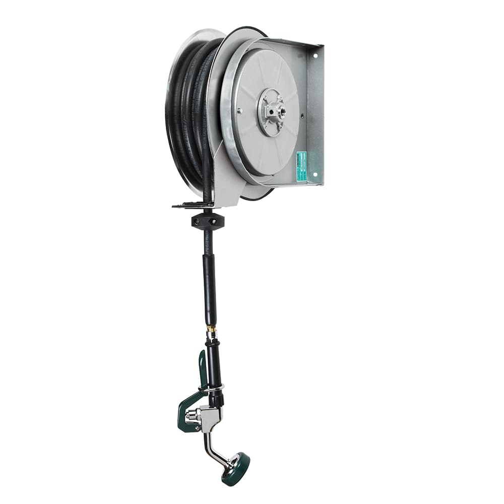 Krowne 24-603 35-ft Open Powder Coated Hose Reel Assembly, Mounts To Ceiling