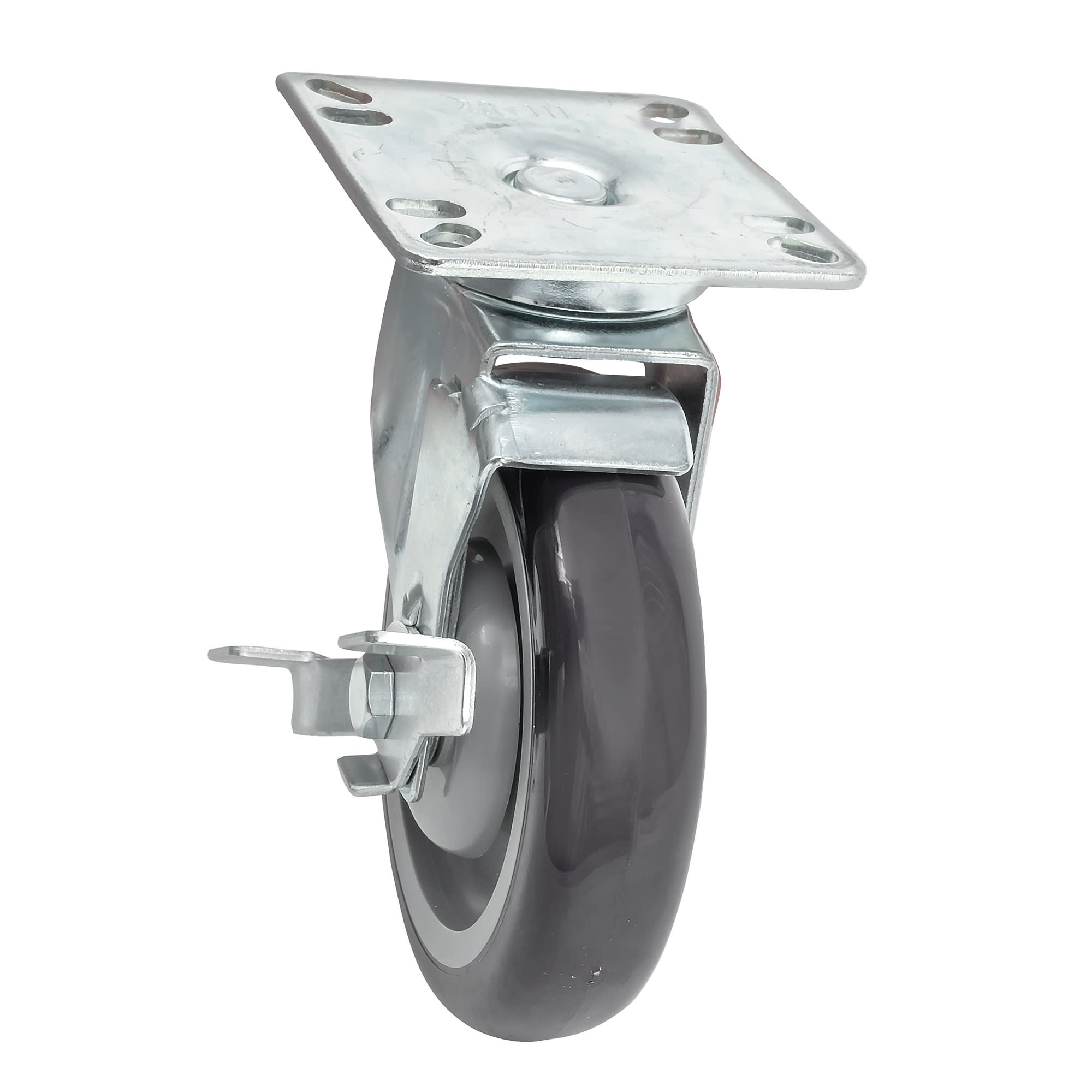 "Krowne 28-111S 4-Piece Universal Plate Caster Set w/ 5"" Wheel, 3.5 x 3.5"""