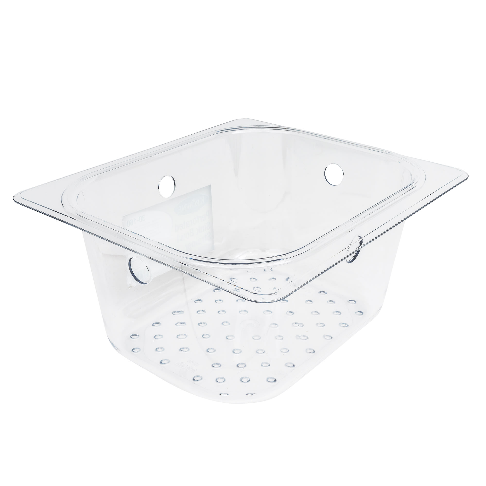 "Krowne 30-160 Perforated Basket for 10"" x 14"" & 10"" x 12"" Dump Sinks - 6"" Deep, Plastic"