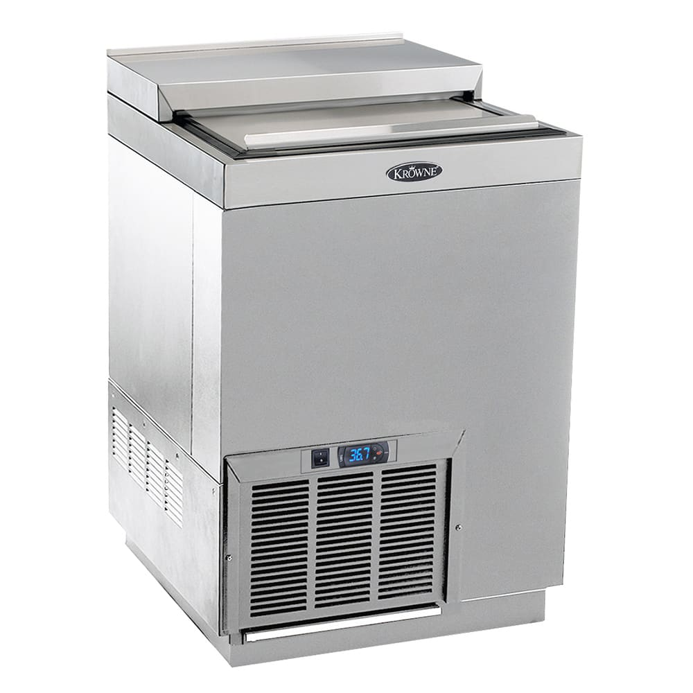 "Krowne BC24-SS 24"" Forced Air Bottle Cooler - Holds (120) 12 oz Bottles, Stainless Interior, 115v"
