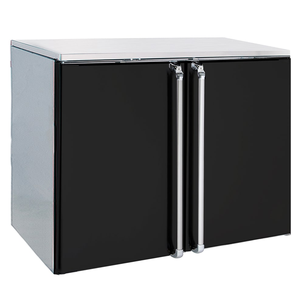 "Krowne BR48L 48"" (2) Section Bar Refrigerator - Swinging Solid Doors, 115v"