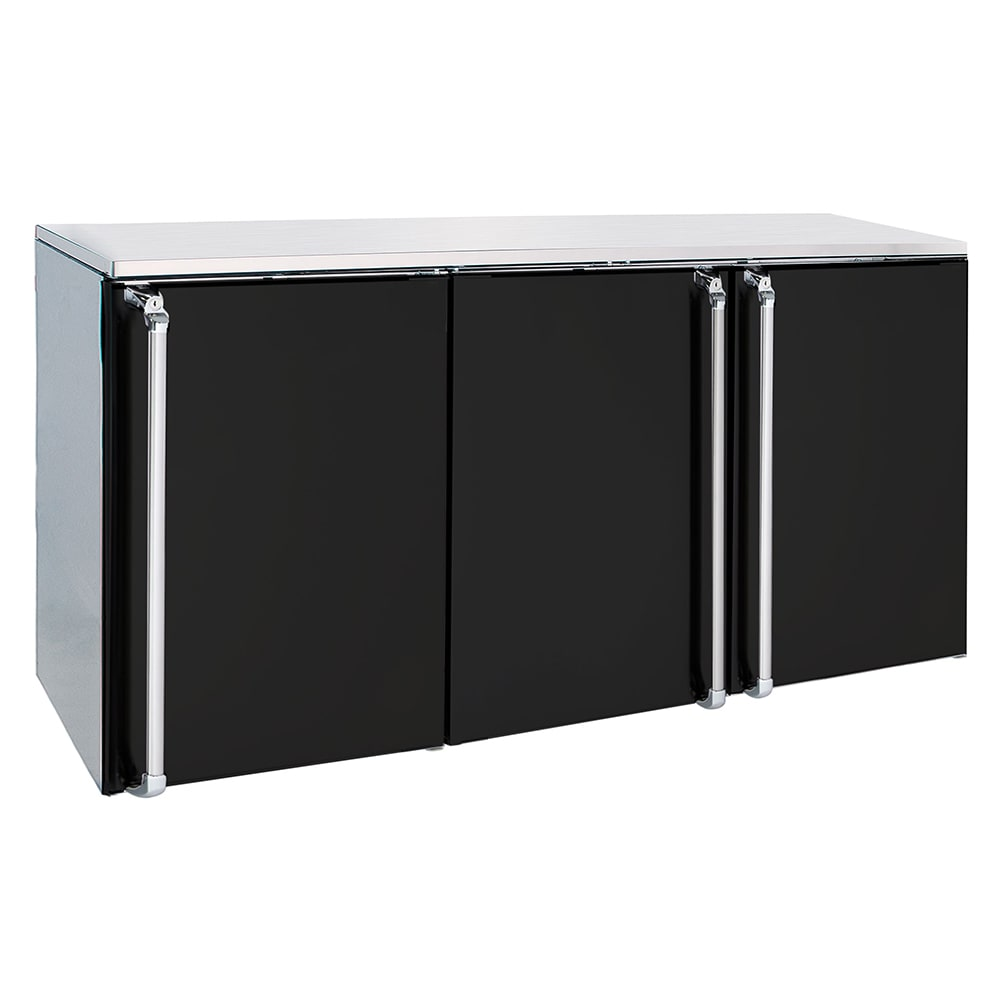 "Krowne BR72L 72"" (3) Section Bar Refrigerator - Swinging Solid Doors, 115v"