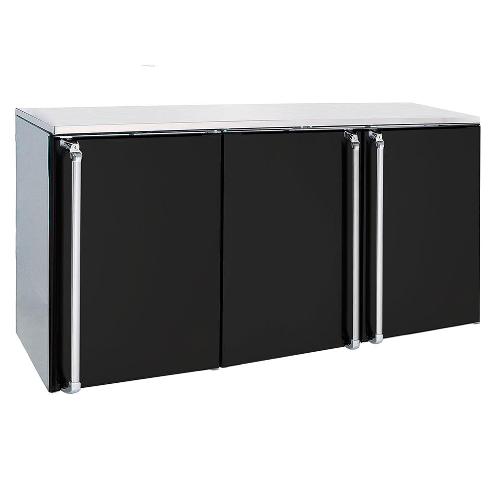 """Krowne BR72R BNBLLR 72"""" (3) Section Bar Refrigerator - Swinging Solid Doors, 115v"""