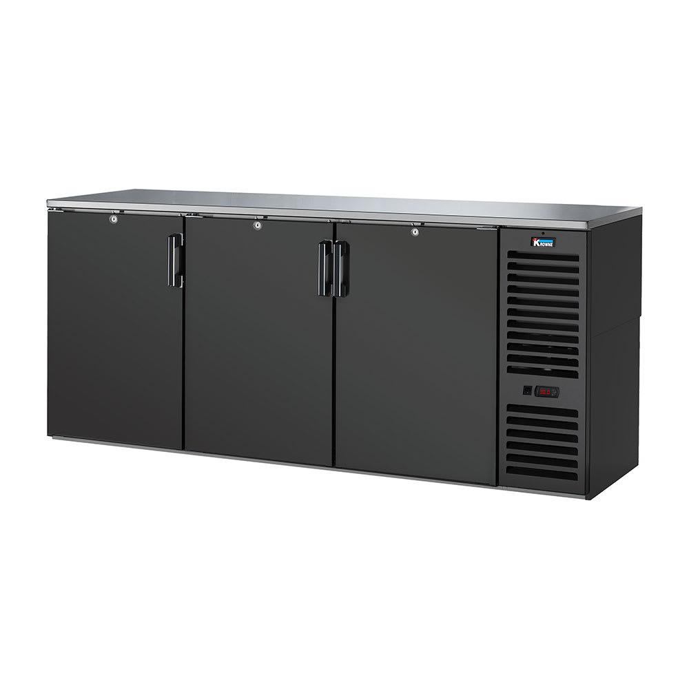 "Krowne BS84R 84"" (3) Section Bar Refrigerator - Swinging Solid Doors, 115v"