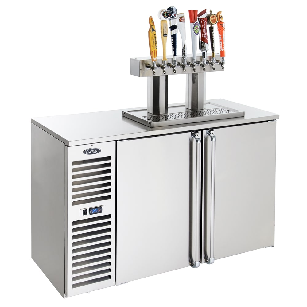 "Krowne DB60L 60"" Draft Beer System w/ (2) Keg Capacity - (1) Column, Black, 115v"