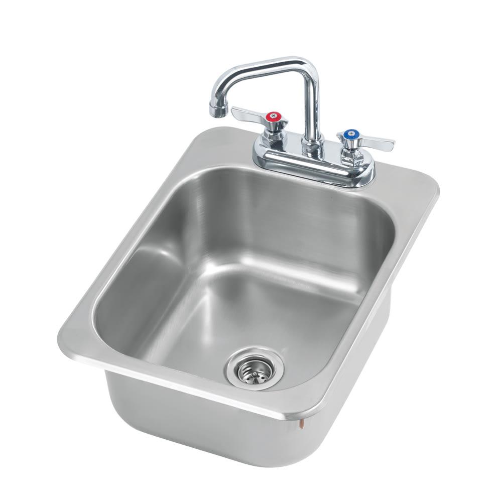 """Krowne HS-1317 Drop-In Commercial Hand Sink w/ 10""""L x 12""""W x 5.5""""D Bowl, Gooseneck Faucet"""