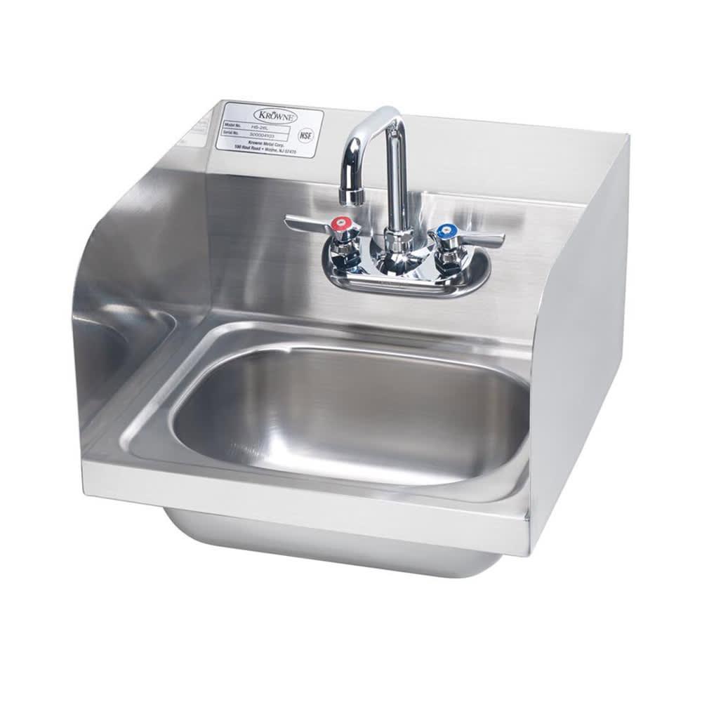"""Krowne HS-26L Wall Mount Commercial Hand Sink w/ 14""""L x 10""""W x 6""""D Bowl, Gooseneck Faucet"""