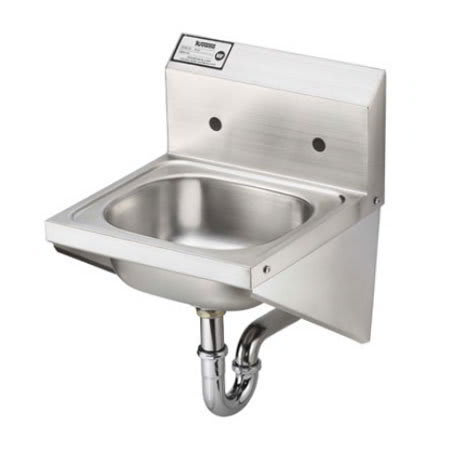 "Krowne HS-27 Wall Mount Commercial Hand Sink w/ 14""L x 10""W x 6""D Bowl"