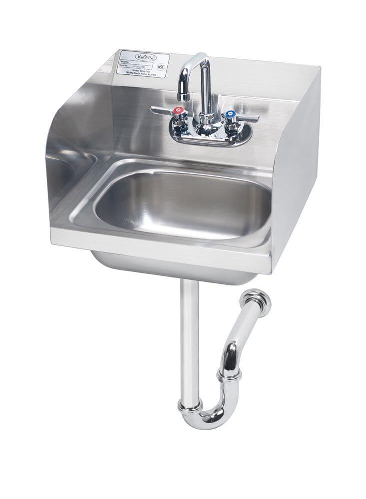 """Krowne HS-5 Wall Mount Commercial Hand Sink w/ 14""""L x 10""""W x 6""""D Bowl, Gooseneck Faucet"""