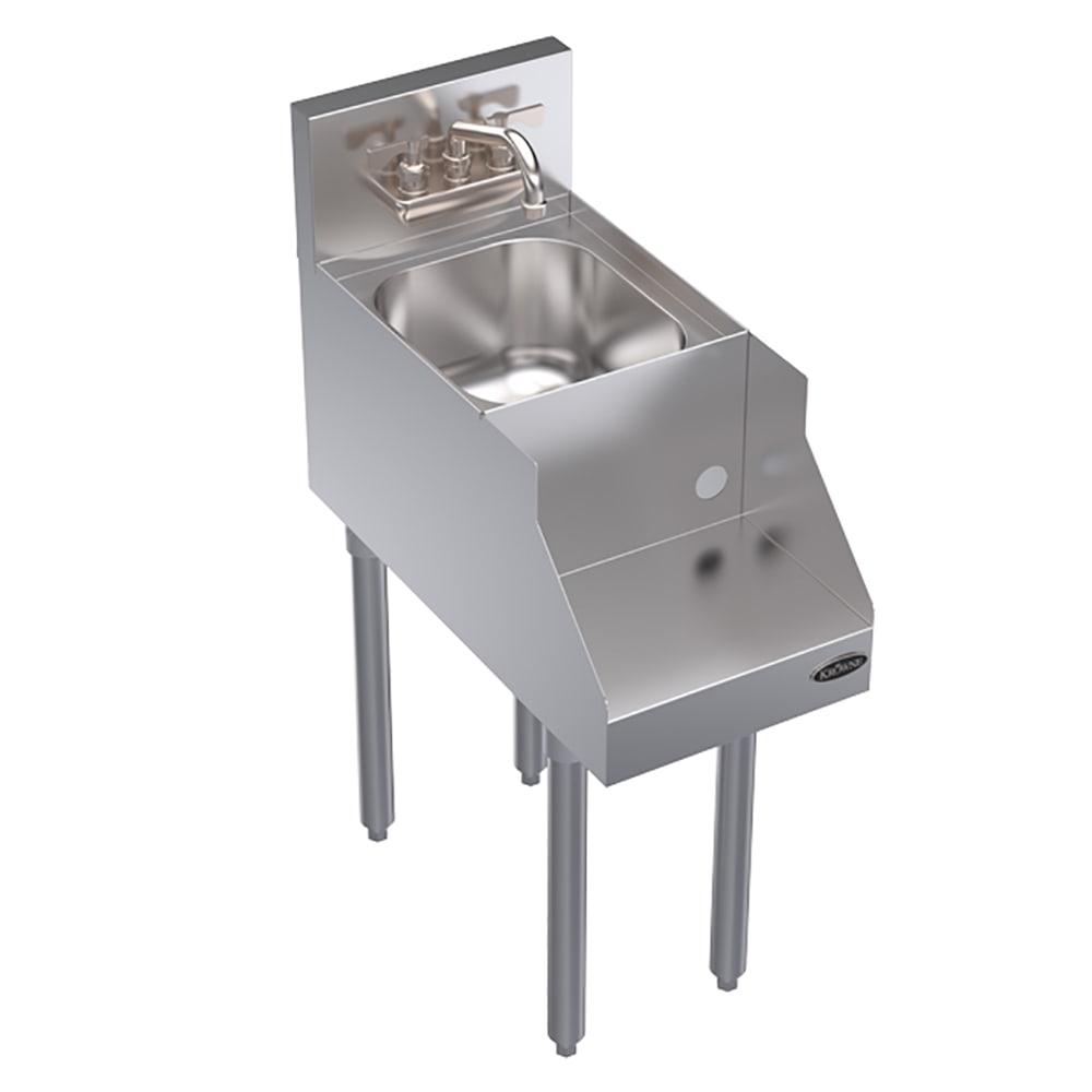"Krowne KR18-12BD Blender/Liquid Dump Sink Add-On - 7"" Back Splash, Splash Mount, 12x24"
