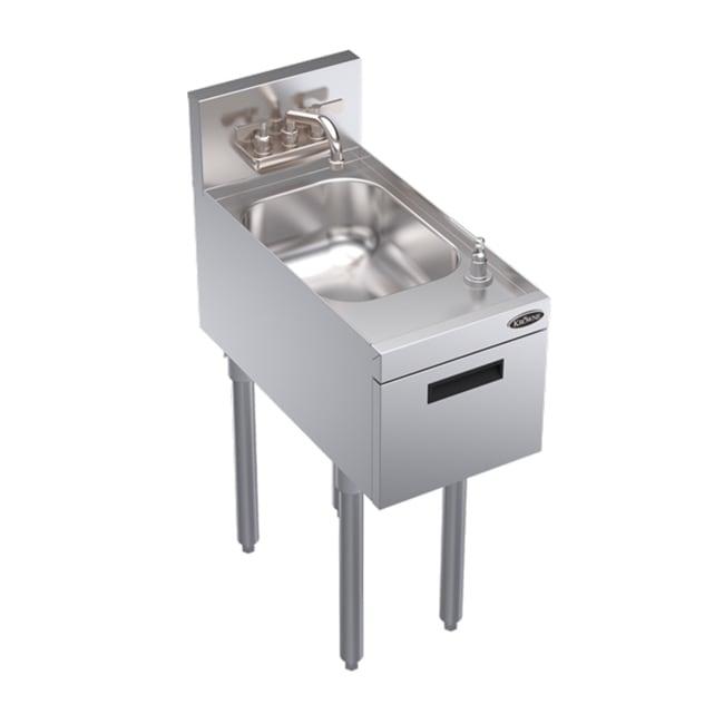 """Krowne KR18-12DST Commercial Hand Sink w/ 14""""L x 10""""W x 7""""D Bowl, Soap Dispenser"""