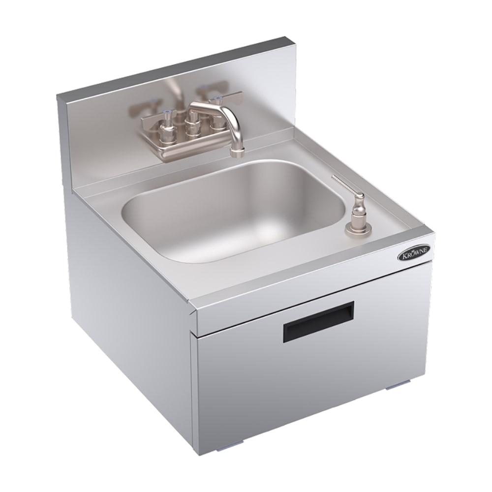 "Krowne KR18-18WST Commercial Hand Sink w/ 14""L x 10""W x 7""D Bowl, Soap Dispenser"