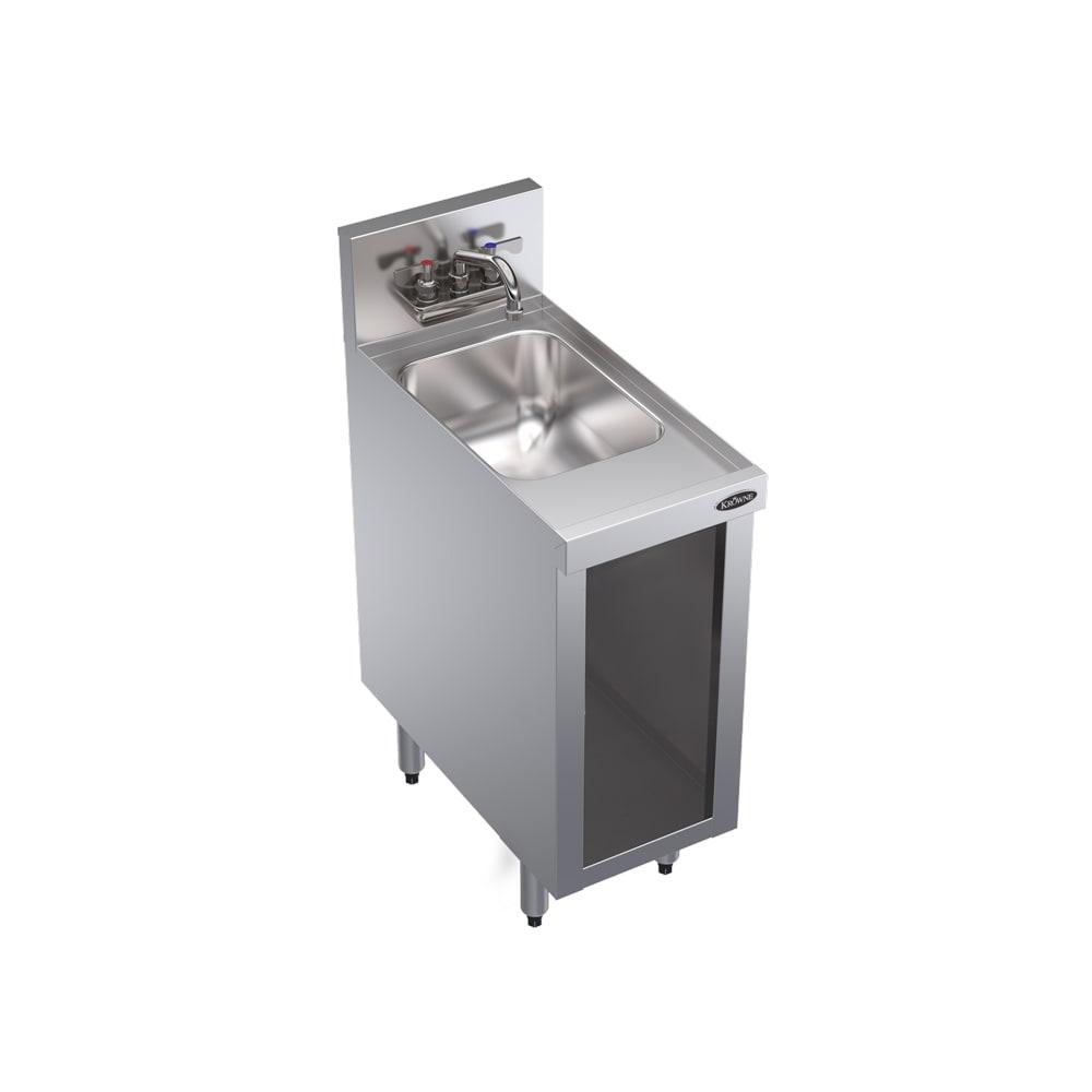 Krowne KR18-S12C Under Bar Storage Unit w/ Sink - Open Base, 12x24
