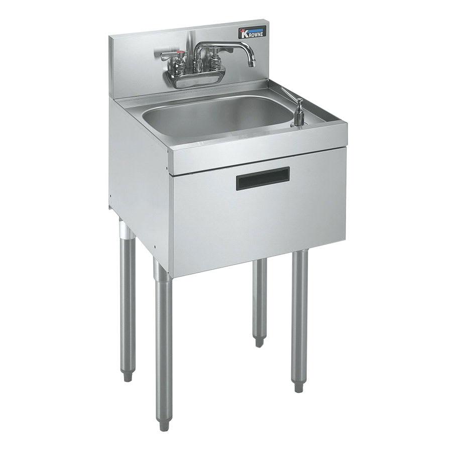 "Krowne KR21-18ST Commercial Hand Sink w/ 14""L x 10""W x 7""D Bowl, Low Lead"