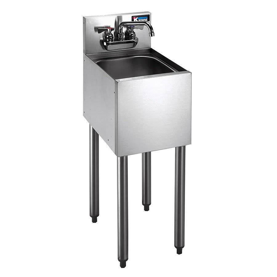 """Krowne KR21-1C 12"""" 1 Compartment Sink w/ 10""""W x 14""""L Bowl, 7"""" Deep"""