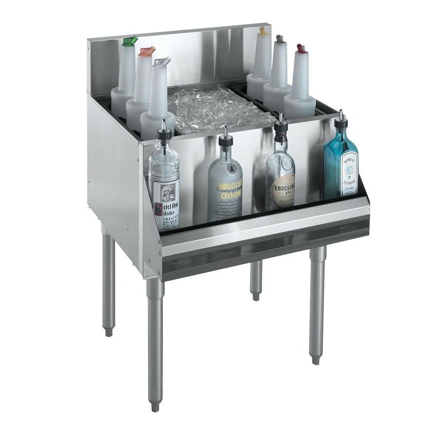 "Krowne KR21-24 Ice Bin - 80-lb Capacity, Bottle Racks, 7"" Back Splash, 24x21"