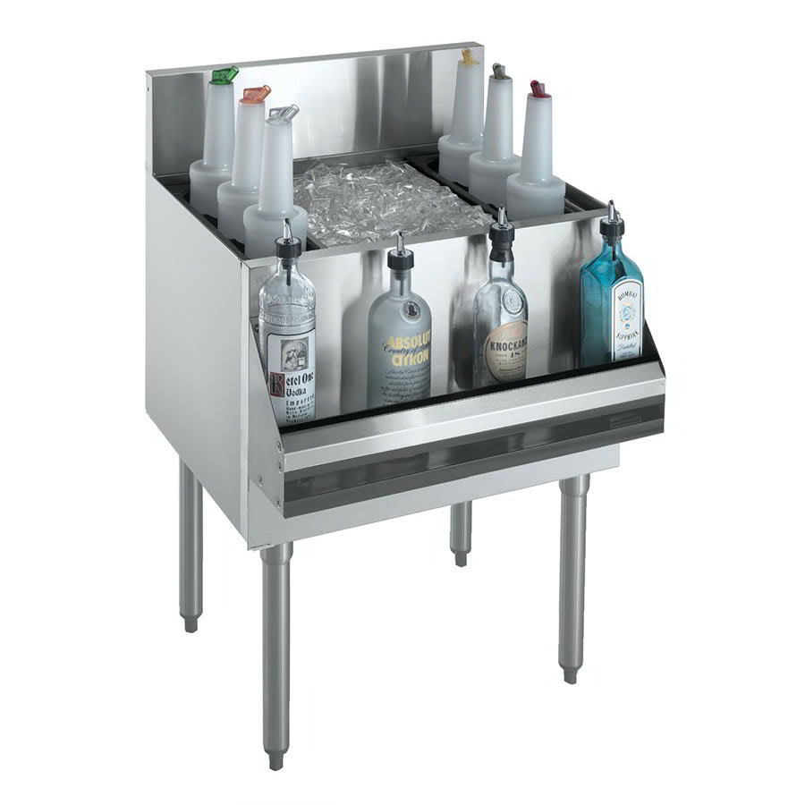 "Krowne KR21-36DP-10 Ice Bin - 138 lb Capacity, Bottle Racks, 36x21"", Cold Plate"