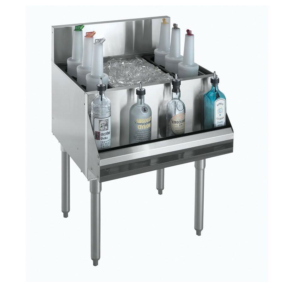 "Krowne KR21-42-10 Ice Bin - 135-lb Capacity, Bottle Racks, 42x21"", Cold Plate"