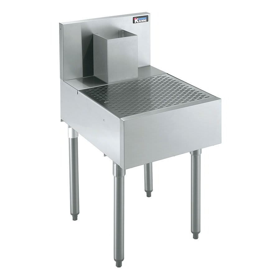 Krowne KR21-BD24 Under Bar Beer Drainer - Lift-Out Perforated Top, 24x26