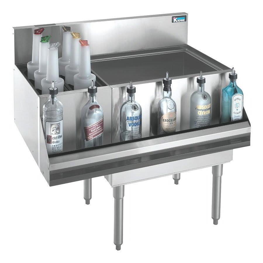 Krowne KR21-M48C Ice Bin w/ 2-Bottle Sections - 80-lb Capacity, 48x21
