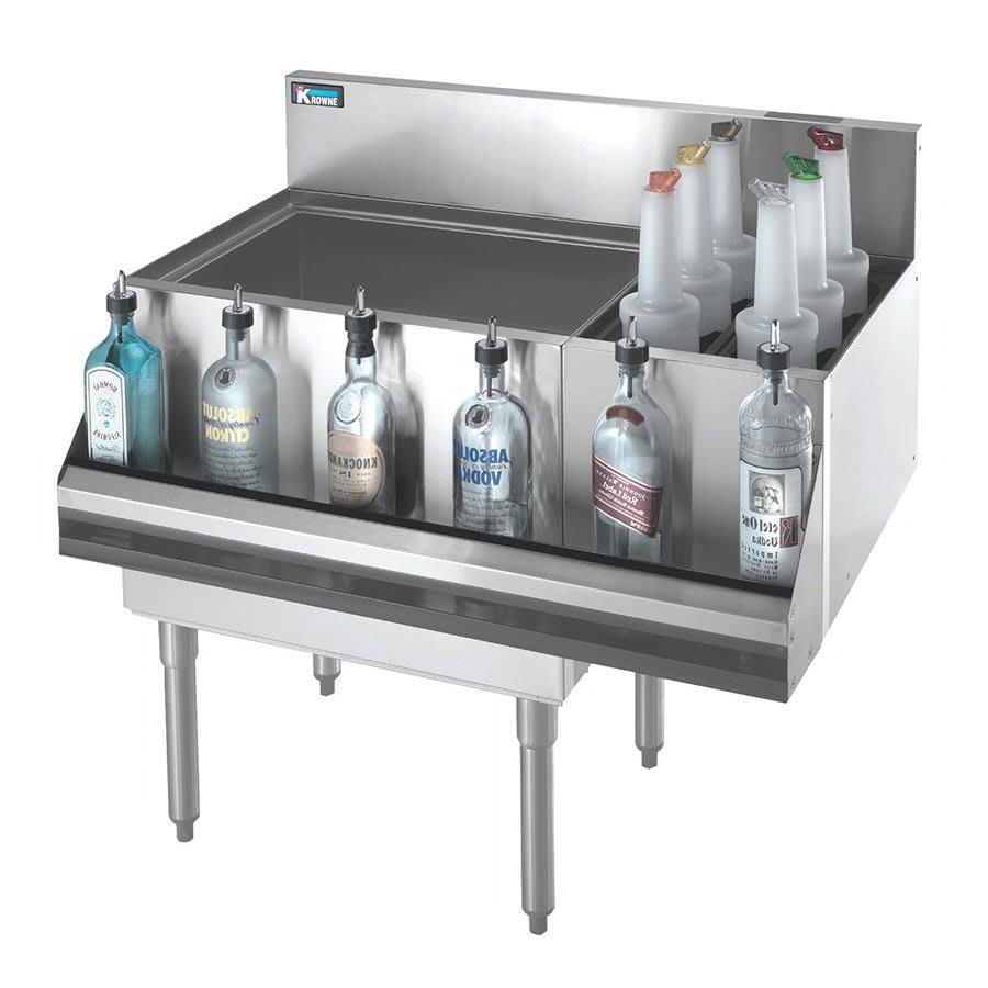Krowne KR21-M48L Left Ice Bin/Right Bottle Section - 115 lb Capacity, 48x21