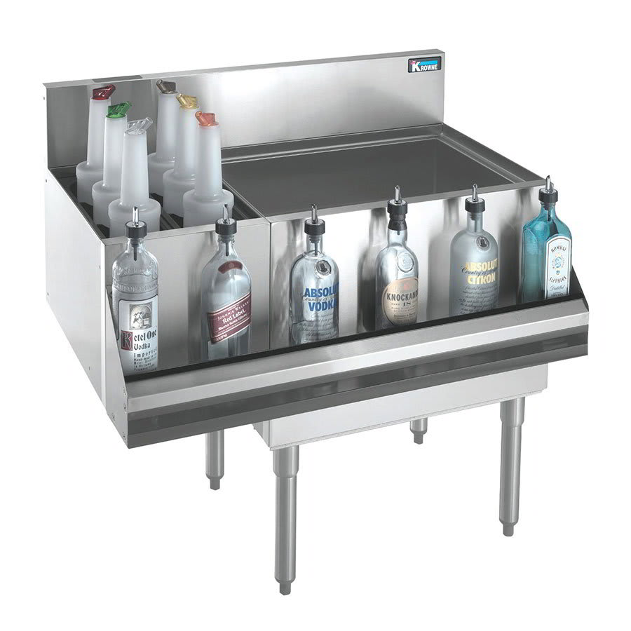 Krowne KR21-M48R Right Ice Bin/Left Bottle Section - 115 lb Capacity, 48x21