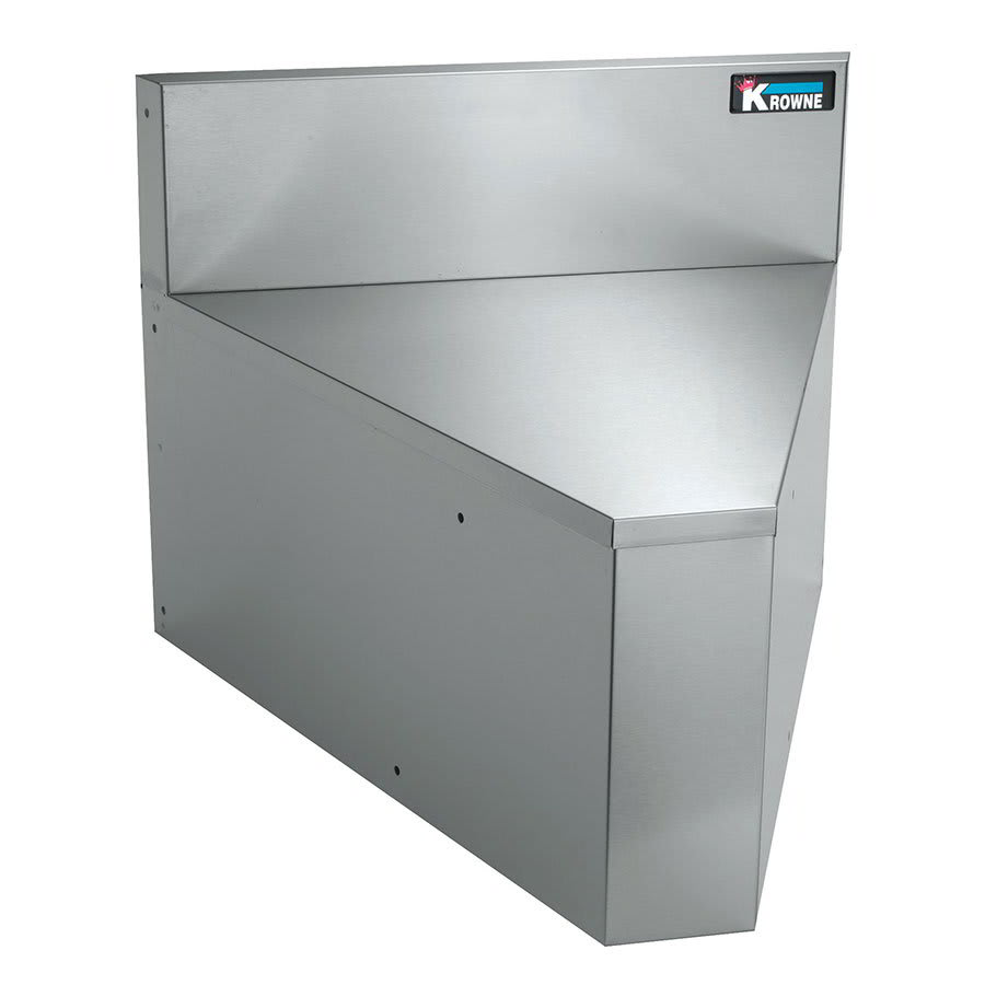 "Krowne KR21-R90 21"" Rear Angle - 90 Degree, 7"" Back Splash"