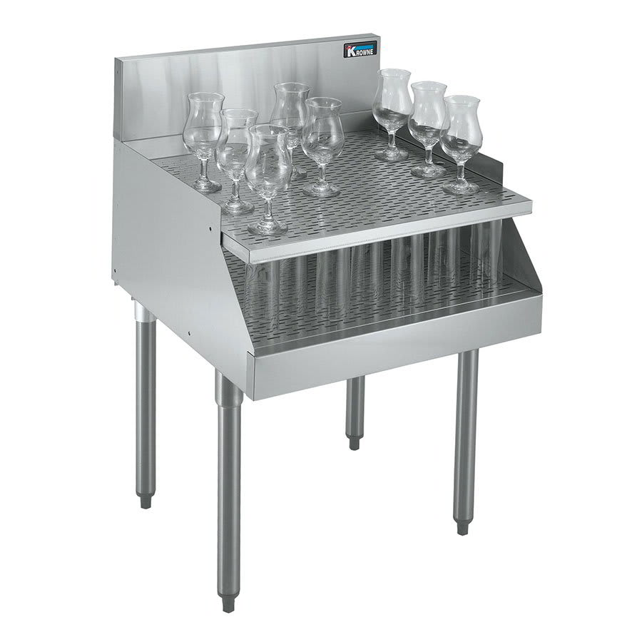 Krowne KR21-RG18 Under Bar Freestanding Drainboard - Recessed, 18x26
