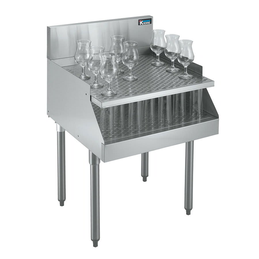 Krowne KR21-RG24 Under Bar Freestanding Drainboard - Recessed, 24x26