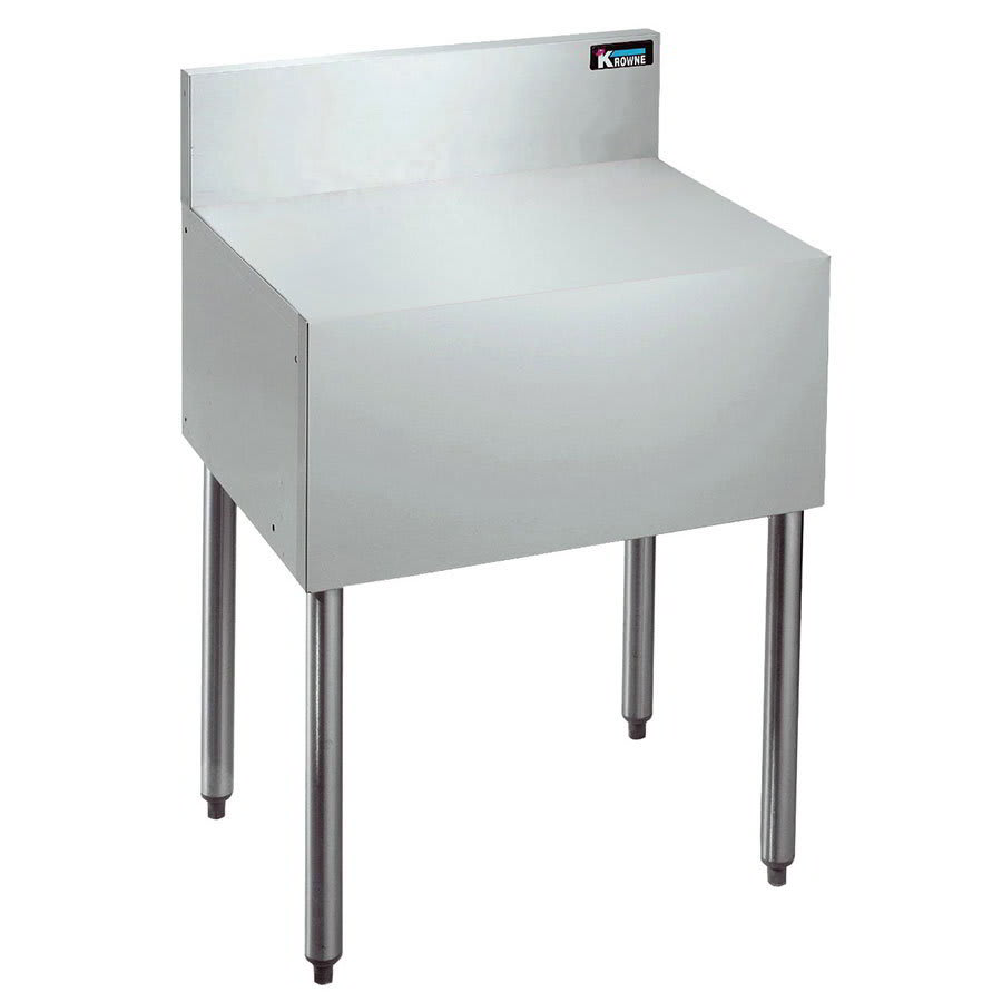 "Krowne KR21-RS18 Flat Top Register/Coffee Stand - 7"" Back Splash, 30""H, 18x21"