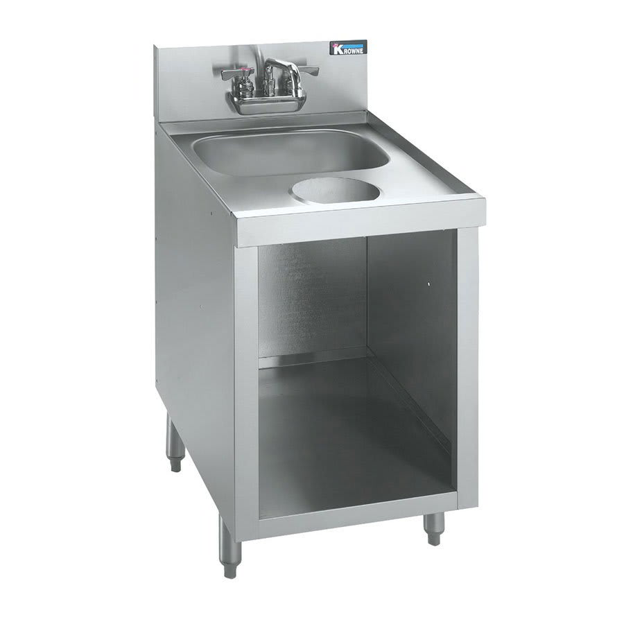 "Krowne KR21-S18C 18"" 1-Compartment Sink w/ 14""W x 10""L Bowl, 10"" Deep"