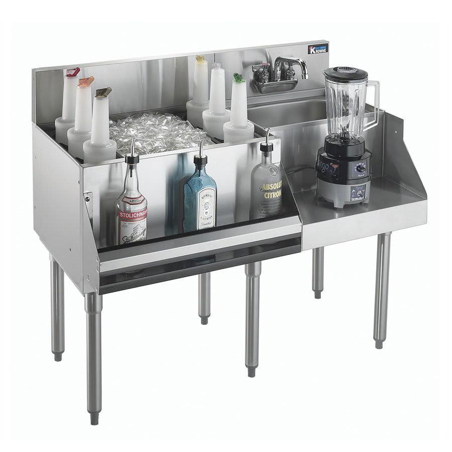 Krowne KR21-W42L-10 Left Ice Bin/Right Blender Unit - 80 lb Capacity, 42x26