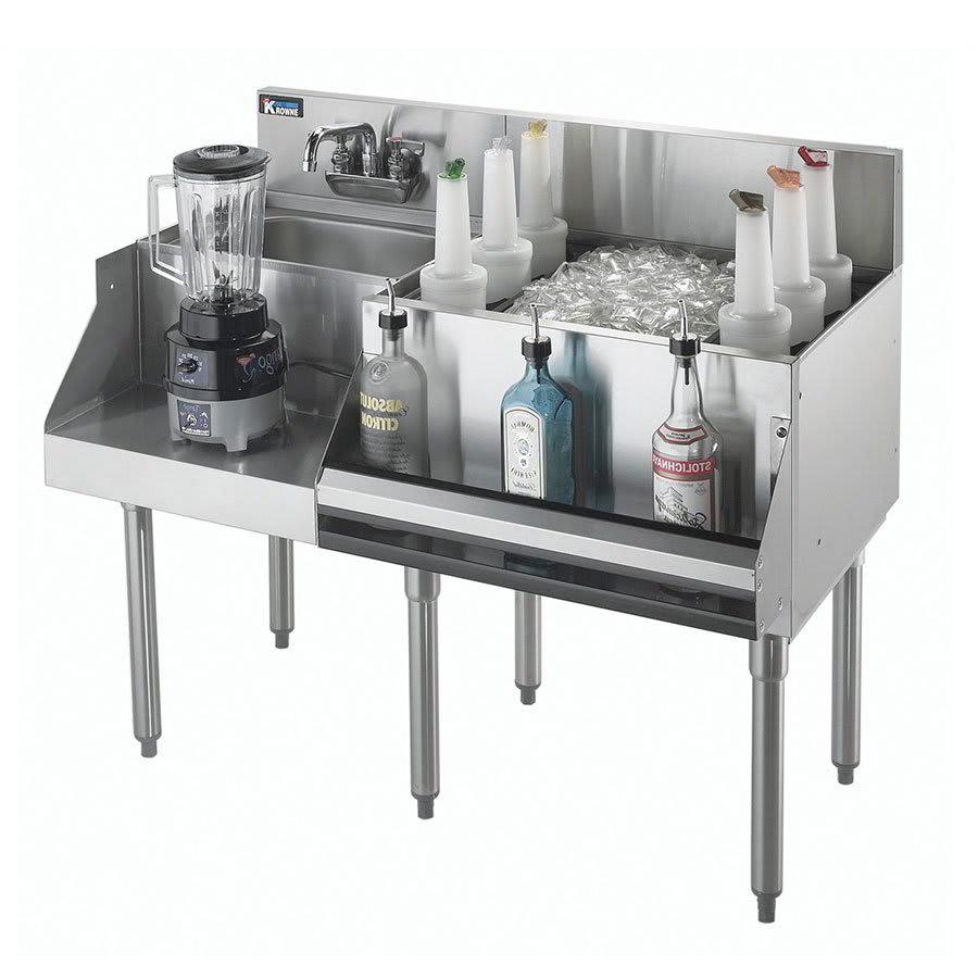 "Krowne KR21-W54R-10 Right Ice Bin/Left Blender Unit - 115 lb Capacity, Sink, 54x26"", Cold Plate"