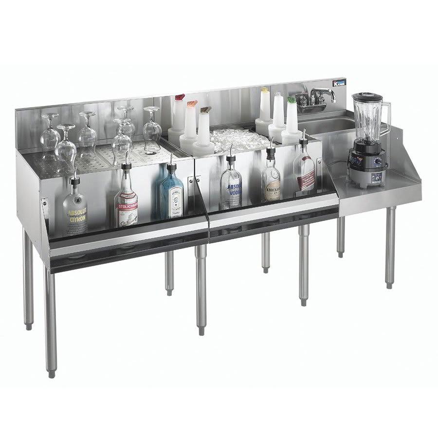 "Krowne KR21-W60A-10 Drainboard/Ice Bin/Blender Unit - 80 lb Capacity, Sink, 60x26"", Cold Plate"