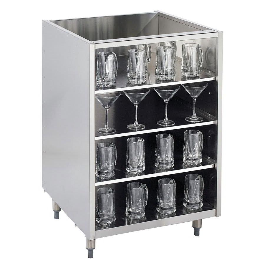 "Krowne KR-G18 18"" Backbar Glass Storage Cabinet w/ 3 Shelves, 24"" D"