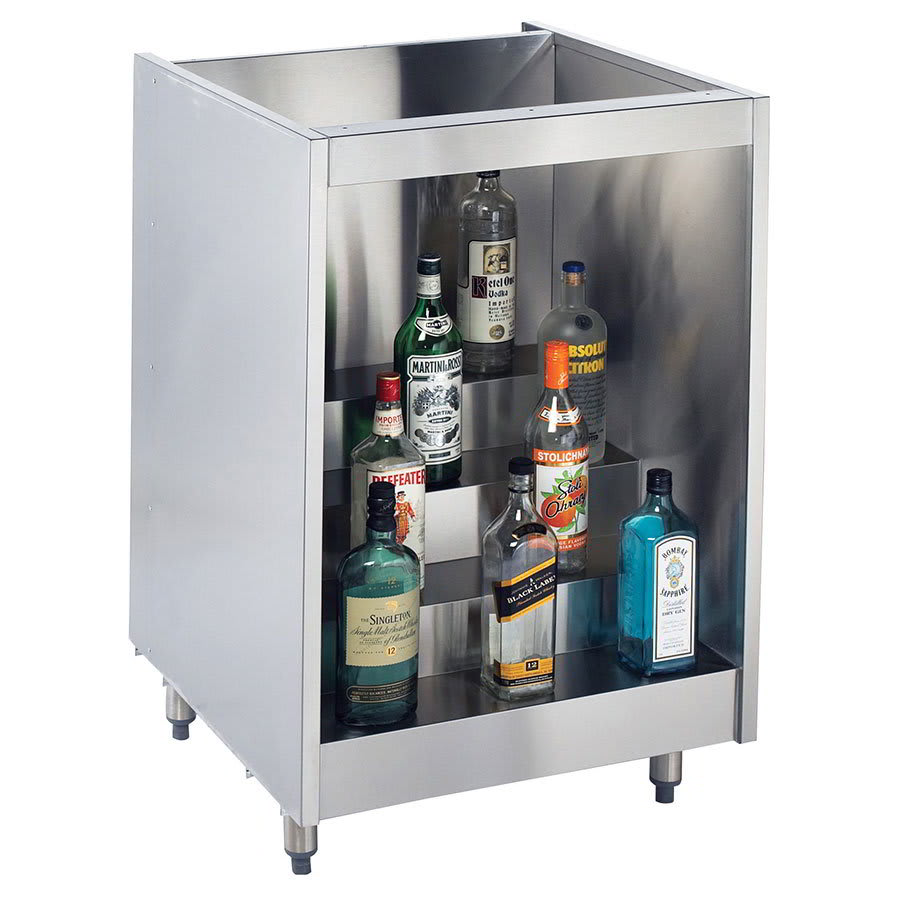 "Krowne KR-L18 18"" 4-Step Backbar Liquor Display, 24"" D"