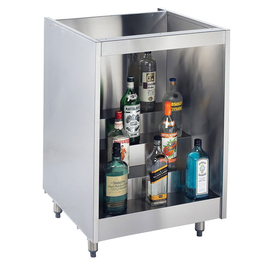 "Krowne KR-L24 24"" 4 Step Backbar Liquor Display, 24"" D"